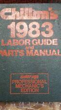 Chilton's Labor Guide & Parts Manual 1983