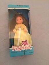 Rosebud By Mattel Baby Gold Star Rose Doll #9784 Mint in Box 1976