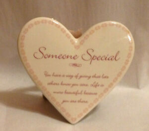 SOMEONE SPECIAL YOU HAVE A WAY OF GIVING....HEART SHAPED PLAQUE TO HANG OR STAND