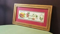 Bangs Canning Co Texas Elberta Peaches Original 1927 Framed Label