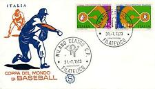 Repubblica Italiana 1973 FDC Filagrano Baseball