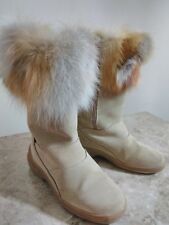 Emme TEX Faux Fur Trim Modes Boots Sally Italy Size 39 US 10 $210.00