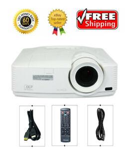 Mitsubishi WD570U DLP Meeting Room Projector 3500 ANSI HD 1080p HDMI bundle