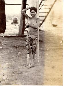 """Asie du Sud, """"Negritos"""" Vintage albumen print Tirage albuminé  9x12  Circa"""