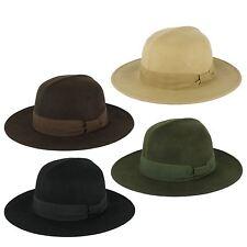 ZAKIRA 100% Wool Colonial Fedora Hat Handmade in Italy