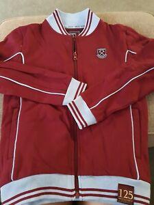 West Ham United Claret Sweatshirt  Full Zip - 125 Years  - Age 9-10 Years BN