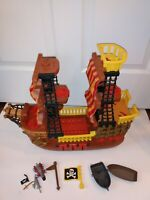 2006 Fisher Price Imaginext Adventures Pirate Ship Brown Red Retired boat