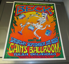 1996 Beck David Dean Signed Poster Vf- 17.5x23 @ Cain's Ballroom