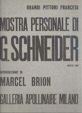 Brion Marcel. Mostra personale di G. Schneider. Galleria Apollinaire 1958