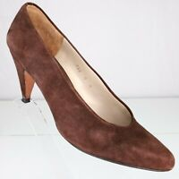 Evan Picone Brown Suede Leather Pumps Shoes Size 9 Womens Heels Made in Spain