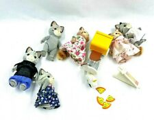 Calico Critters Gray Tabby Cat & Chipmunk lot