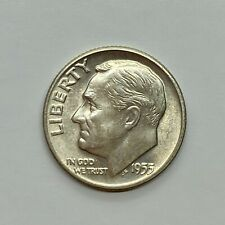 1955 (D) Roosevelt Dime, Uncirculated - 90% Silver .10 US Coin *3b49