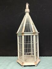 Vintage Birdcage Birdhouse Bird House Wire & Wooden Cage