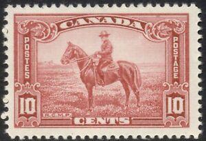 Canada #223 10 cent 1935 RCMP horse, carmine rose, MNH Post Office fresh