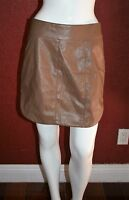 MISTRESS ROCKS LOS ANGELES UNDERCOVER  SKIRT FAUX LEATHER  BROWN SIZE L