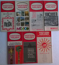 Western Airlines timetable lot of 7 1967 complete year [4094]