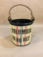 Pail Planter - For Plants, Small Trees, Home Decoration, Burlap Sack, Colombia