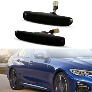 Sequential LED Side Marker Indicator Lights Lamp 1998-2001 For BMW 3 Series E46