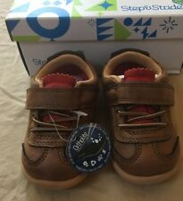 Step & Stride Derby Sneaker Shoe Brown Infant Size 3 M Us (d)