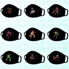 Kids Cotton Washable Cartoon Face Mask Marvel Superheros 3 - 8 Years Old