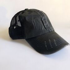 Gray Baseball Cap Navy Details Mesh Trucker Cap Baseball Hat Low Cap SnapKing
