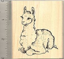 Cute Llama Rubber Stamp Wood Mounted J6305 Cria stamps