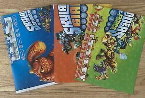 Lot 3 Skylanders Posters Spyro's Adventure Giants Swap Force Character Checklist