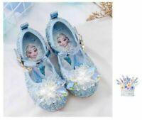 Elsa Kids Girls Elsa Princess Fancy Up Party Sequin Acrylic Crystal Elsa Shoes