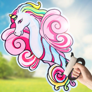 ZaxiDeel Large Unicorn Kite for Kids and Adults, 41 inches Unicorn Shape Diamond
