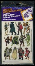 INSTANT RUB-DOWN PICTURE TRANSFERS SEALED 1500-4 Stickers D&D Dungeons Dragons