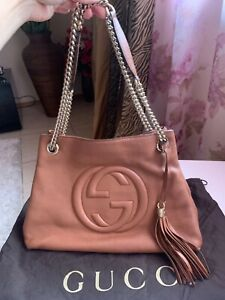 Gucci Soho bag pebbled leather double chain