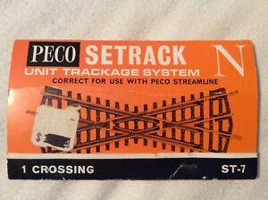 Peco ST-7 - Code 80 Crossing - N Scale