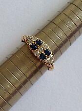Fine Victorian 18ct Gold Natural Sapphire & Diamond Set Ring