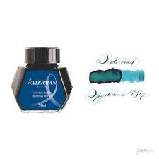 Waterman 50 ml Bottle Fountain Pen Ink, Mysterious Blue (Blue-Black)