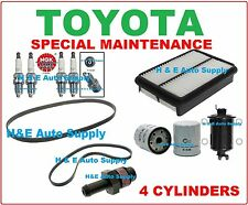 2001-04 TACOMA 4 CYL. TUNE UP KITS: SPARK PLUGS, BELT; AIR, FUEL & OIL FILTER