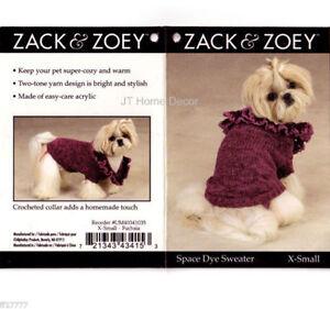 Zack & Zoey Space Dye DOG Sweater XS XSmall