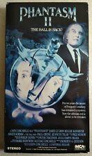 Phantasm II - VHS - Ex-Rental - The Ball Is Back! - Angus Scrimm - Horror