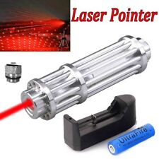 1pcs 650nm Red ZOOM Laser Pointer Pen 1mw Visible Beam + Charger&18650 Battery