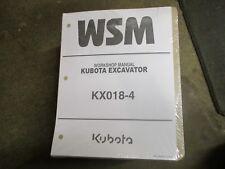 Kubota KX018 -4 KX 018 -4 excavator service & repair manual