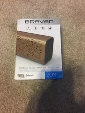 Braven BLUXABP Lux Bluetooth IPX5 portable Loudspeaker with Powerbank Box, Gold