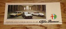Original 1979 Alfa Romeo Full Line Sales Brochure 79 Sprint Spider Veloce