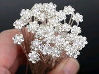 New 40Pcs Wedding Bridal Pearl Flower Crystal Hair Pins Clips Bridesmaid Jewelry