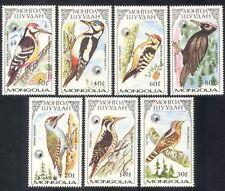 Mongolia 1987 pájaros carpinteros/Aves/Naturaleza/Carpintero 7 V Set (n17544)