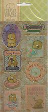 Forever Friends vintage laser stickers 3 Packs - 8 autocollants par pack