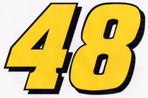 JIMMIE JOHNSON #48 Decal 17.5 X 12 racing nascar 012