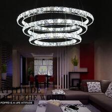 Design 96W LED Kristall Deckenlampe Hängelampe Höhenverstellbar Kronleuchter DHL