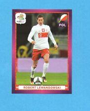 PANINI-EURO 2012-Figurina n.77- LEWANDOWSKI - POLONIA -NEW-DARK BOARD