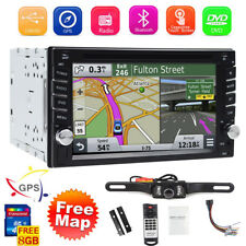 "GPS Navigation With Map Bluetooth Radio Double Din 6.2"" Car Stereo DVD Player"