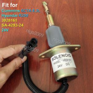 SA-4293-24 Fuel Shutoff Solenoid 3928161 for CUMMINS 6CTA 8.3L Hyundai R290