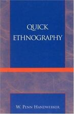 QUICK ETHNOGRAPHY - NEW PAPERBACK BOOK